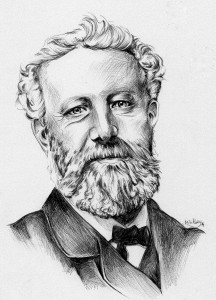 Retrato de Julio Verne por Mili